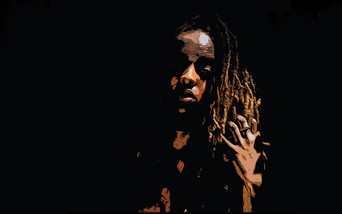 Joannah with Dreadlocks in Graphic design and Digital Art you can request for your version