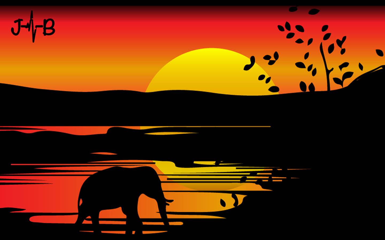 Elephant Photo HD Digital-Art in African Wild Kenya Digital Art Graphic Designs