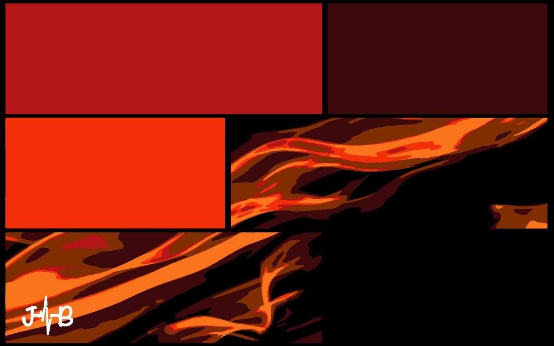Digital Art Design fire